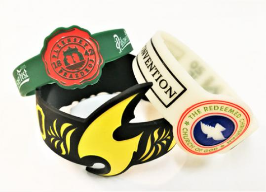 Custom Shaped Silicone Wristbands